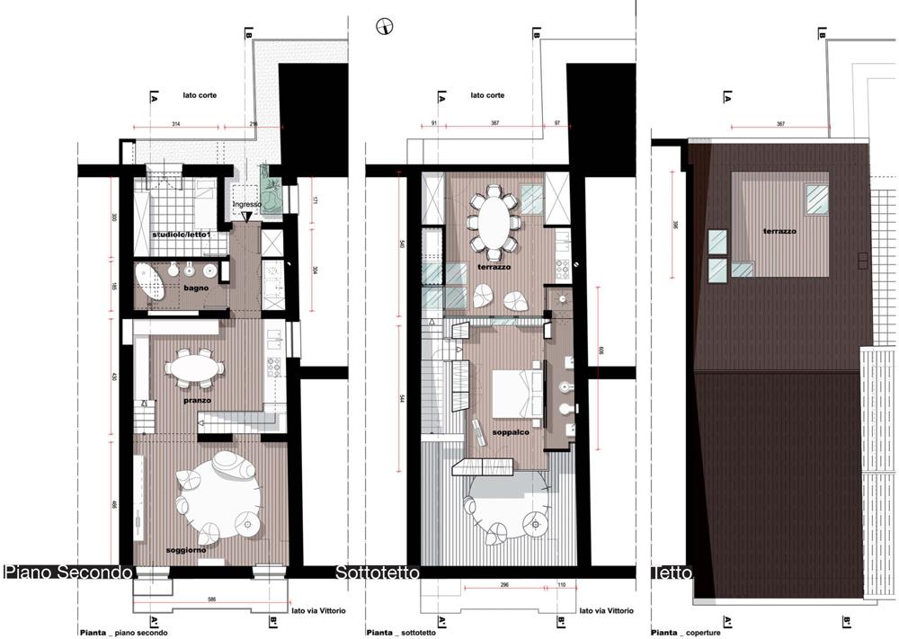 Distribuzione Spazi Interni Casa.Casa Mf Boda Architetti