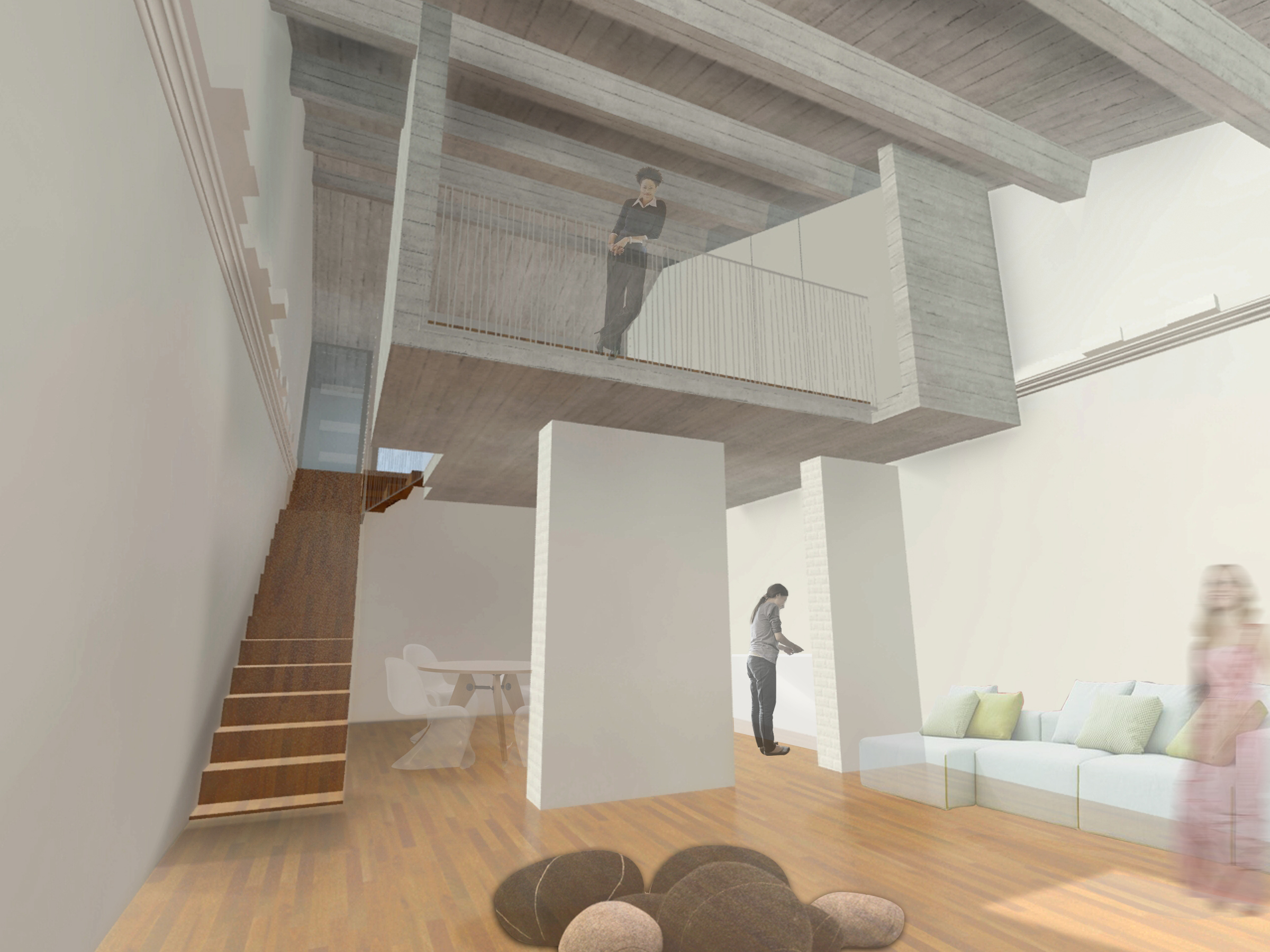 Scala scala su sulla costruzione fatta un passo casa del
